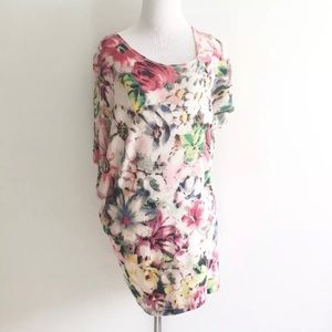 Anthropologie Deletta Quoin Tunic Top Floral Small